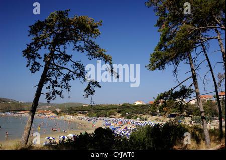 croatia, dalmatian islands, kvarner, rab island, lopar, paradise beach - Stock Photo