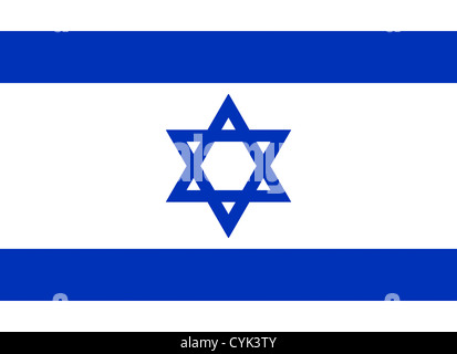 National flag of the Republic of Israel. - Stock Photo