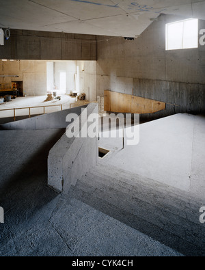 Solstice Arts Centre, Navan, Ireland. Architect: Grafton Architects, 2006. View of theatre space during construction - Stock Photo