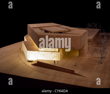 Solstice Arts Centre, Navan, Ireland. Architect: Grafton Architects, 2006. View of building model made in wood and - Stock Photo