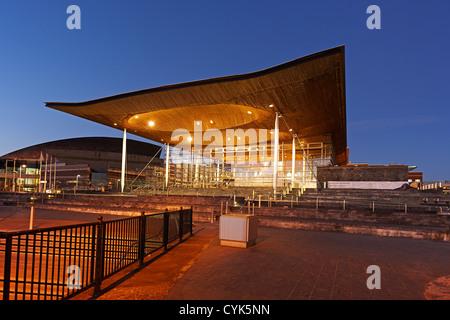 The Senedd, National Assembly Building, Cardiff Bay, Wales, UK - Stock Photo