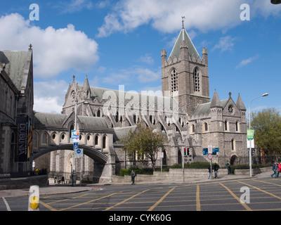 Christ Church Cathedral Dublin Ireland - Stock Photo