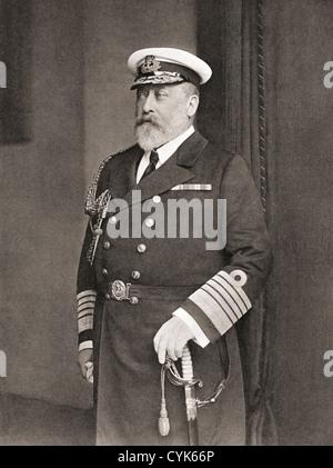 Edward VII, Albert Edward, 1841 –1910. King of the United Kingdom. From The Wonderful Year 1909 - Stock Photo