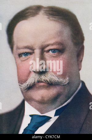 William Howard Taft, 1857 to 1930. 27th President of the United States. - Stock Photo