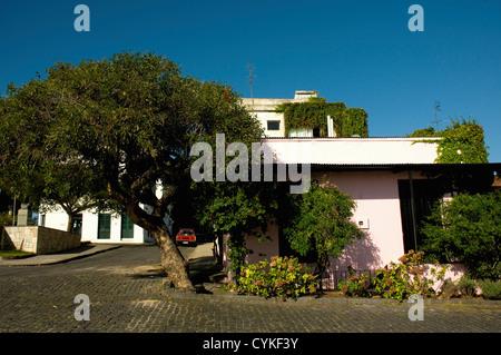 Uruguay. Colonia del Sacramento. Barrio Historico. Colonial house. - Stock Photo