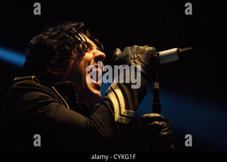Lostprophets performing at The Ironworks in Inverness, touring their new album 'Weapons'. - Stock Photo