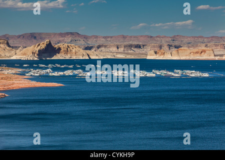 Wahweap Marina and resort on Lake Powell in the Glen Canyon National Recreation Area at Page, Arizona.