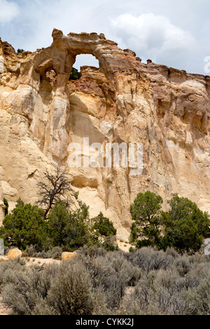 Grosvenor Arch located within the Grand Staircase Escalante National Monument near Kodachrome Basin State Park - Stock Photo
