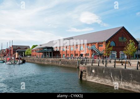 Wales, Swansea, Maritime Quarter, National Waterfront Museum - Stock Photo