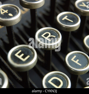 Old antique typewriter keys - Stock Photo