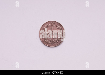 A 1 cent italian lira  coin - Stock Photo