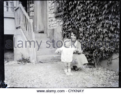 summer happy moment in the countryside vintage 1900s - Stock Photo