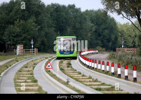 GUIDED BUSWAY IN CAMBRIDGE,ENGLAND. - Stock Photo