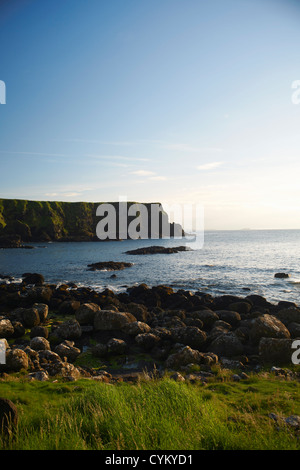 Cliffs overlooking Giant's Causeway - Stock Photo