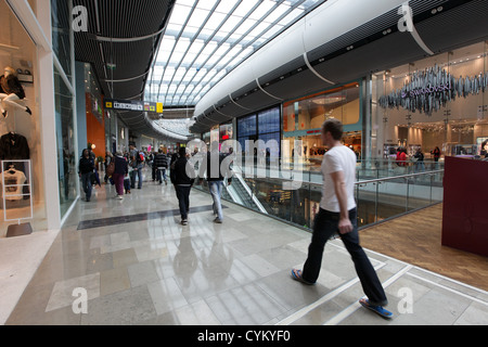 WESTFIELD SHOPPING CENTRE IN STRATFORD LONDON NEXT TO THE OLYMPIC PARK - Stock Photo