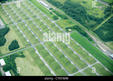 Aerial view of rural fields - Stock Photo
