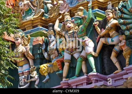 SRI MEENAKSHI TEMPLE MADURAI INDIA SHOWING DETAIL OF THE MONKEY GODS - Stock Photo