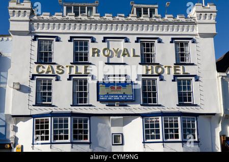 Royal Castle Hotel in Dartmouth, South Devon - Stock Photo