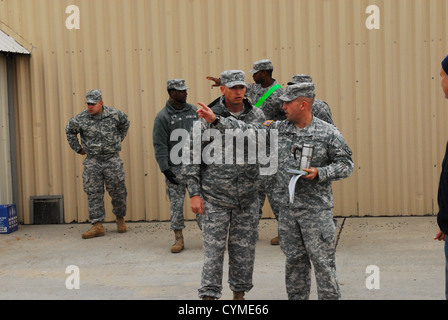 Soldiers from 2nd Brigade Combat Team, 10th Mountain Division (LI), conduct equipment inspections in preparation - Stock Photo
