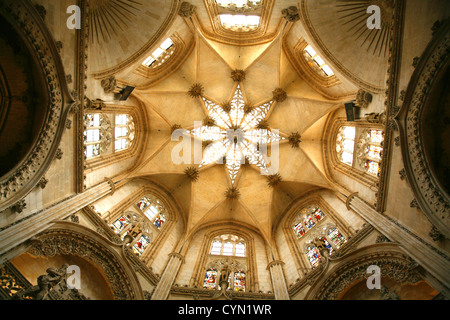 one of the cupolas in the burgos cathedral - Stock Photo