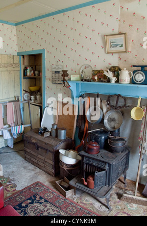 Arnol Cottage. Period decor in historic cottage museum. Isle of Lewis - Stock Photo