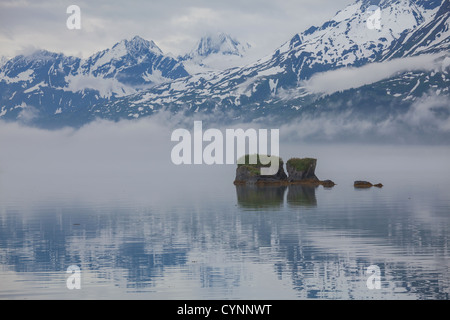 Sea coast on Alaska,Valdez - Stock Photo