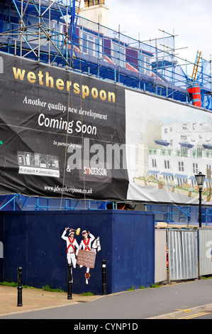 A new Wetherspoon pub and hotel opening soon in Whitby - Stock Photo