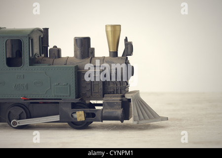 Scale Model of an Old Fashioned Locomotive Steam Train - Stock Photo