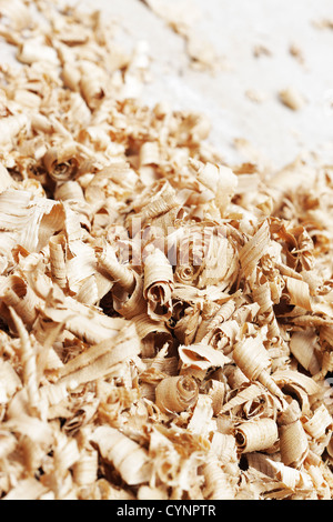 Close up of a wood shavings - Stock Photo