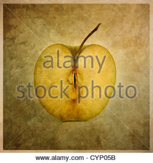 Apple cut in half - Stock Photo