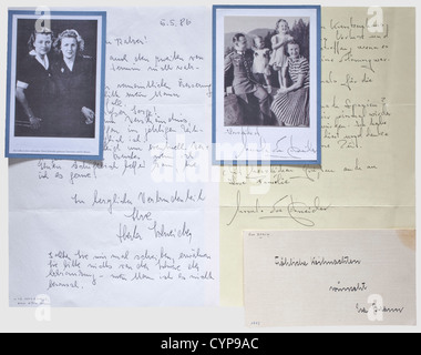 Eva Braun - a Christmas postcard 1942, Handwritten in ink 'Merry Christmas from Eva Braun' (transl.), the lower - Stock Photo