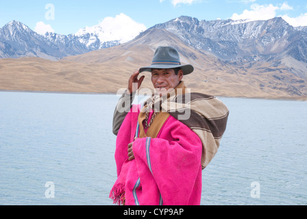 Headman in the Cordillera Real - Stock Photo