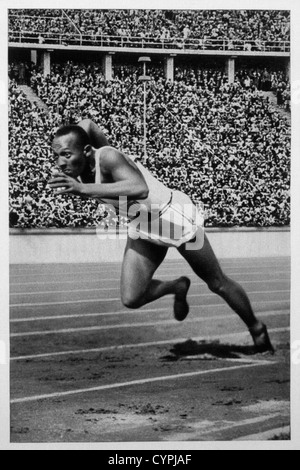 Jesse Owens, Track Star, 1936 Olympic Summer Games, Berlin, Germany - Stock Photo