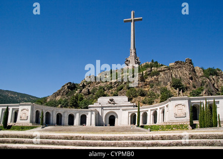 National Monument Valley of Fallen San Lorenzo del Escorial Madrid Spain monumento nacional valle de los caidos - Stock Photo