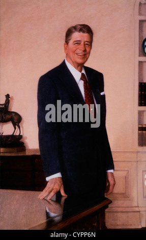Ronald Reagan (1911-2004), 40th President of the United States, Portrait - Stock Photo