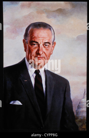 Lyndon B. Johnson (1908-1973), 36th President of the United States, Official Presidential Portrait - Stock Photo