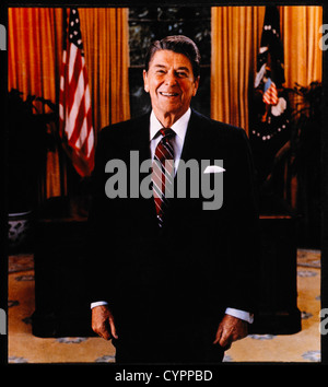 Ronald Reagan (1911-2004), 40th President of the United States, Portrait, 1981 - Stock Photo