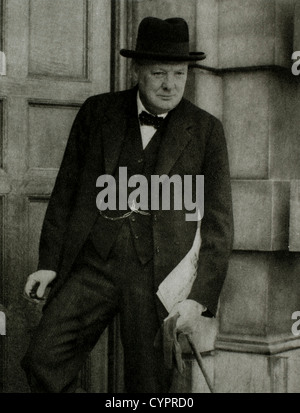 Winston Churchill (1874-1965), British Statesman, Soldier & Author, Prime Minister of Great Britain 1940-45 & 1951 - Stock Photo