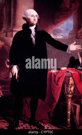 George Washington (1732-1799), First President of the United States, Commander-in-Chief of Continental Army, Portrait - Stock Photo