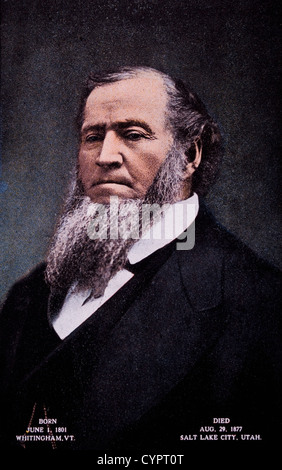 Brigham Young (1801-1877), American Leader in the Latter Day Saint Movement and Settler of Western United States, - Stock Photo