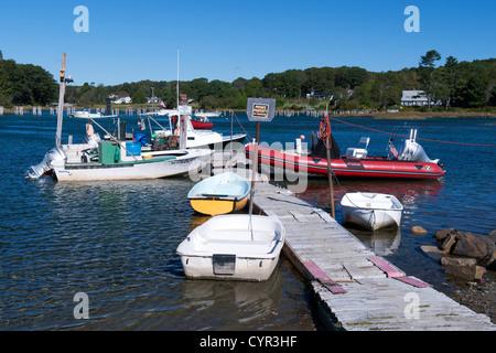 Small fishing harbor in Cape Neddick, Maine, USA. - Stock Photo