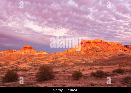 Painted Desert near Arckaringa Station in outback South Australia before sunrise. - Stock Photo