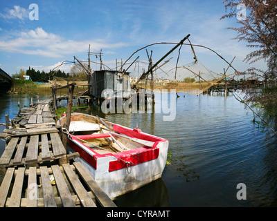 Kalimere fishing houses near Ulcinj - Stock Photo