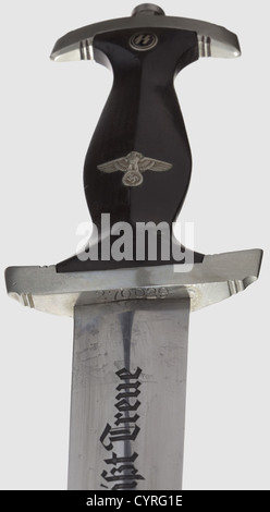 A model 34 SS honour dagger with Röhm dedication, The blade etched on the obverse side with the motto 'Meine Ehre - Stock Photo
