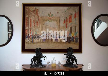 Studio of Campeche painter Joaquín Clausell on Display at Museo de la Ciudad de Mexico in Mexico City DF - Stock Photo