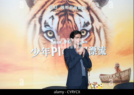 Suraj Sharma, lead actor of Ang Lee's Life of Pi, at the opening ceremony of Rhythm and Hues Studios newest visual - Stock Photo