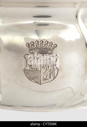 Manfred Freiherr von Richthofen (1892 - 1918), a silver bowl 'II. Preis Eignungs-Prüfung 1912' ('second prize aptitude - Stock Photo