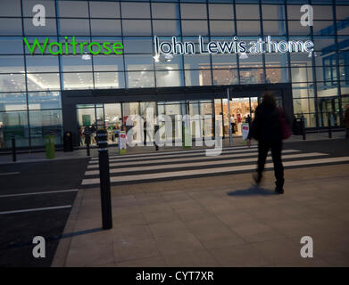 Ipswich, England 9 November 2012 John Lewis at home and Waitrose store opened yesterday forming the first UK store - Stock Photo