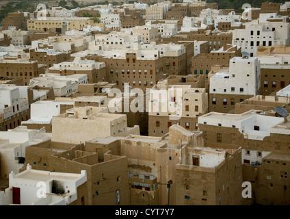Aerial View Of Shibam, Yemen - Stock Photo