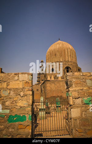 City of the Dead, and mosque of Muhammad Ali of Egypt at citadel Cairo - Stock Photo